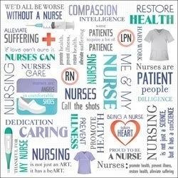 Verpleegster papier 30.5 x 30.5 cm