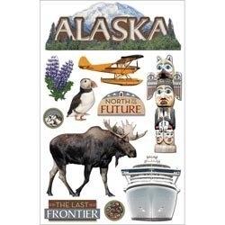 Naar het koude Alaska - 3D stickers