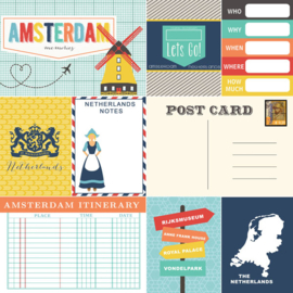 Amsterdam Memories Journal tags 12x12 inch scrapbook papier
