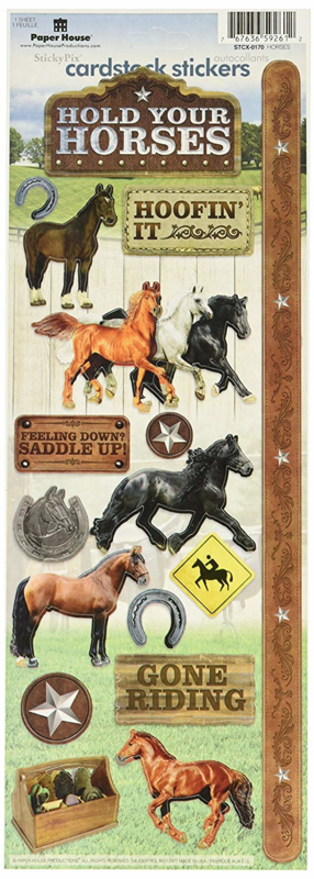 Paarden Paper House productions scrapbook stickers