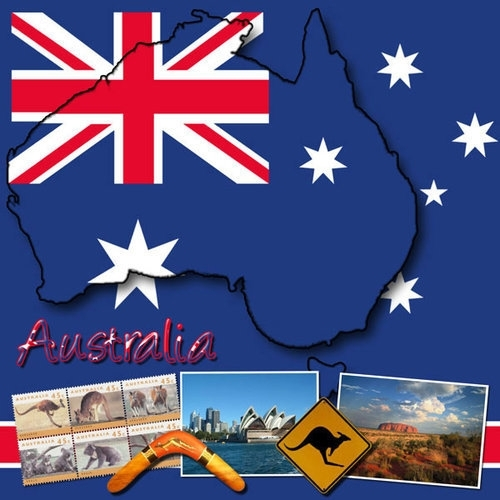 Scrapbook papier World Collection - Australia - 12 x 12 inch