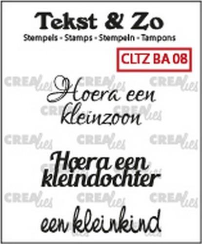 Crealies Tekst & Zo clear stamp - baby 08 (NL)