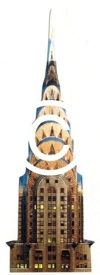 Chrysler Building - stans decoratie - 3.5x10.5 cm