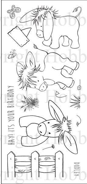 Dudley the Donkey - Schattig ezeltje  - clear stempels