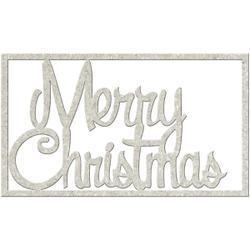 Merry Christmas chipboard 13.5x8 cm