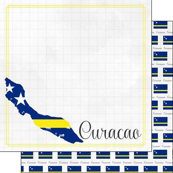 Curacao - Adventure border - scrapbook papier - 12x12 inch