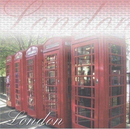 Londen Telefooncellen thema papier 30.5 x 30.5 cm