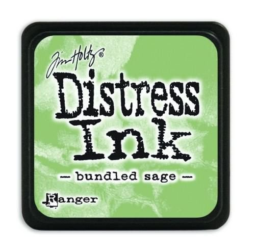 Mini  Distress inkt - Bundled Sage - waterbased dye ink / inkt op waterbasis - 3x3 cm