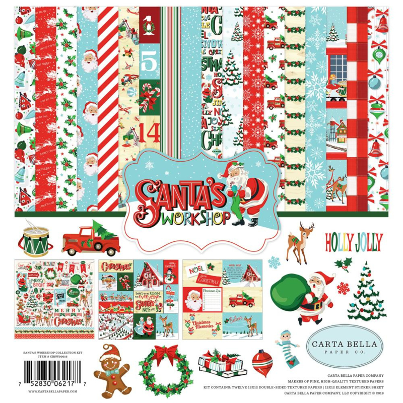 Scrapbook papier pakket Santa's workshop