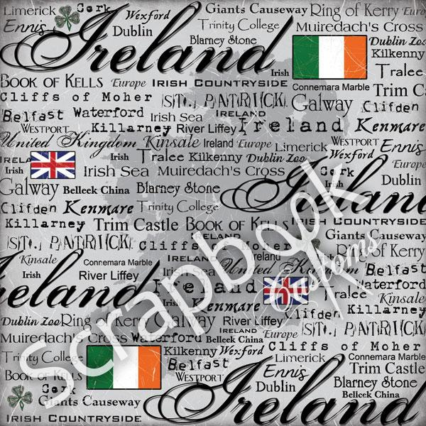 Ireland - Scratchy - 30.5 x 30.5 cm scrappapier
