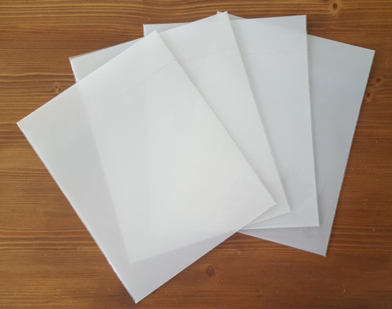 Krimpfolie 4 matte knutselvellen voor tekenen en printen