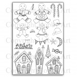 Kerst stempels - Gingerbread Christmas - A5 clear stempel set 15 x 20 cm