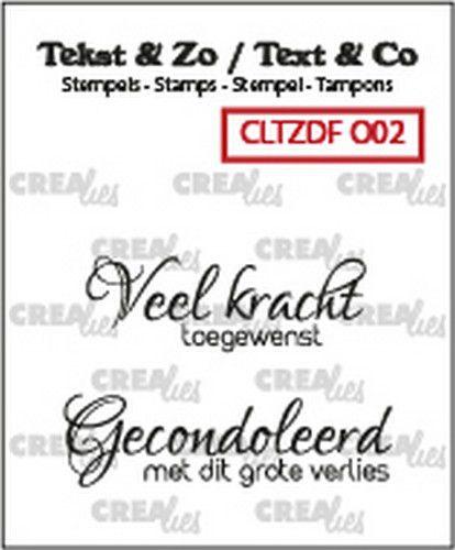 Crealies Tekst & Zo clear stamp - Overlijden 02 (NL)