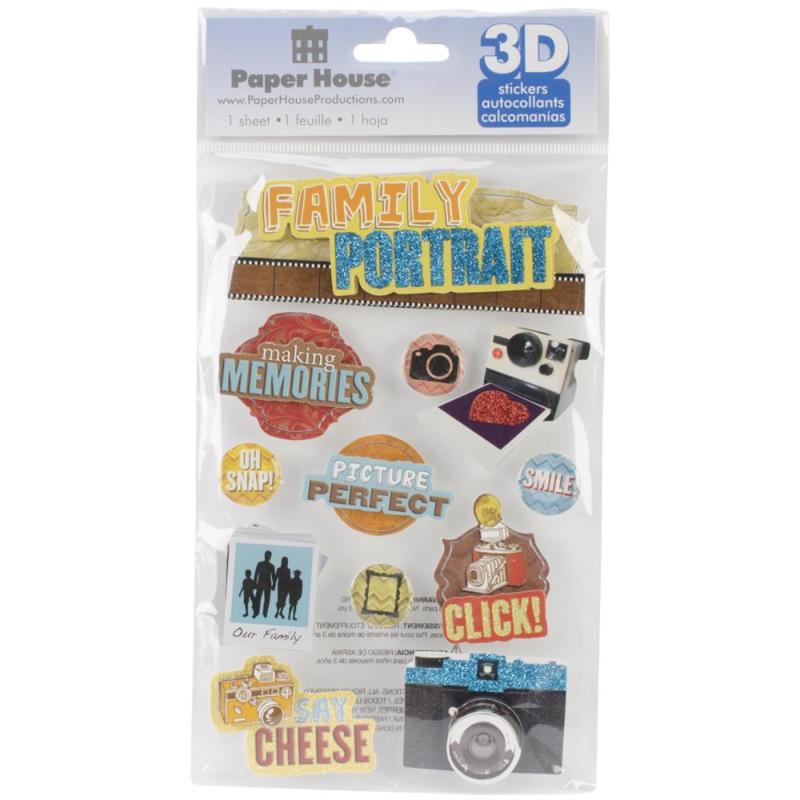 Family Portrait - 3D pop up stickers