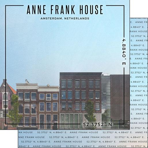 Anne Frank House - Amsterdam - 12x12 inch scrapbook papier