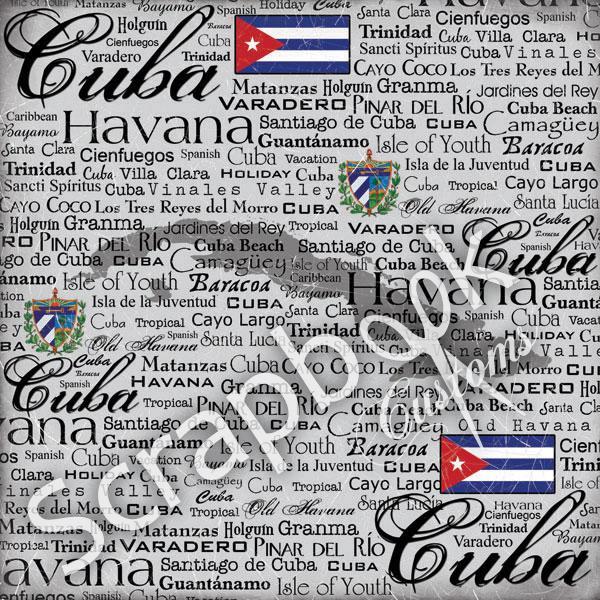 Cuba - Scratchy - papier - 30.5 x 30.5 cm