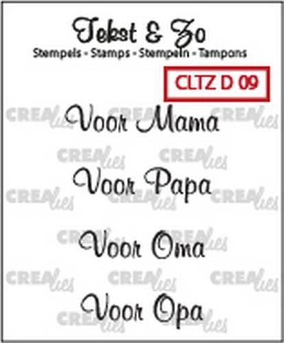Crealies Clearstamp Tekst&Zo Divers 9 (NL)