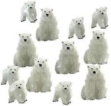 IJsberen -  splitpen decoratie - zakje 12 stuks