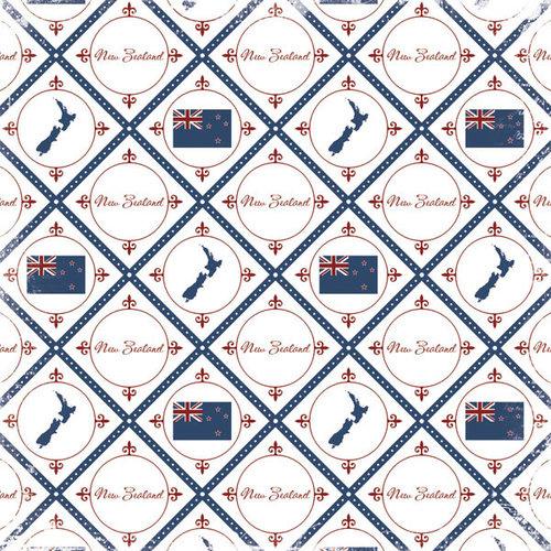 Nieuw Zeeland - discover scrapbookpapier 12 x 12 inch