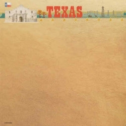 Texas USA scrapbook papier 30.5 x 30.5 cm