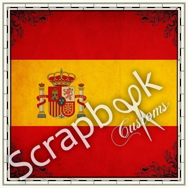 Spaanse Vlag - scrapbookpapier - 12x12 inch