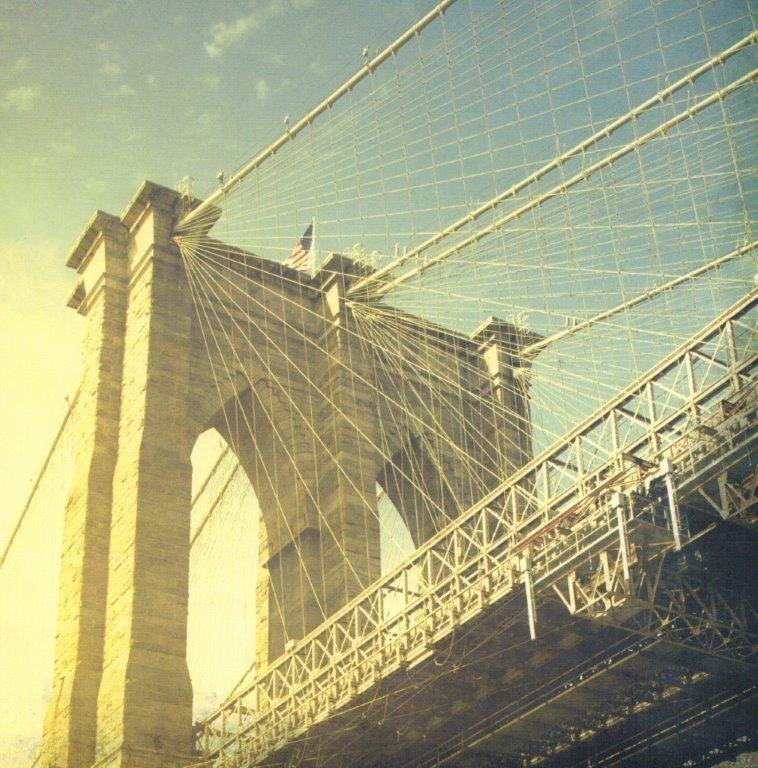 Papier 30.5 x 30.5 cm Brooklyn Bridge