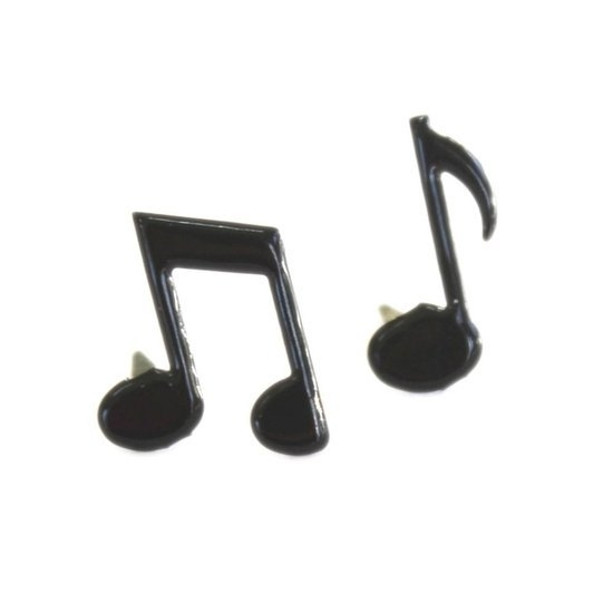 Eyelet Outlet Shape Brads -  Music Notes, 12-Pack