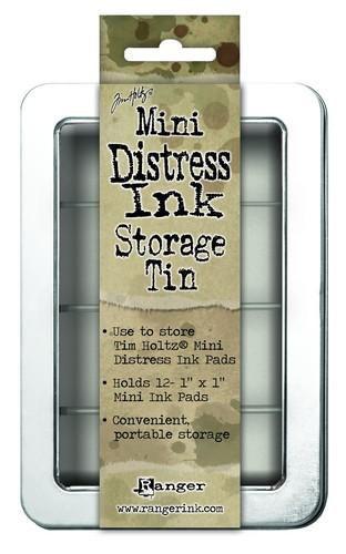 Opbergbox voor Mini Distress Inkt pads - 12 kleuren 3x3 cm