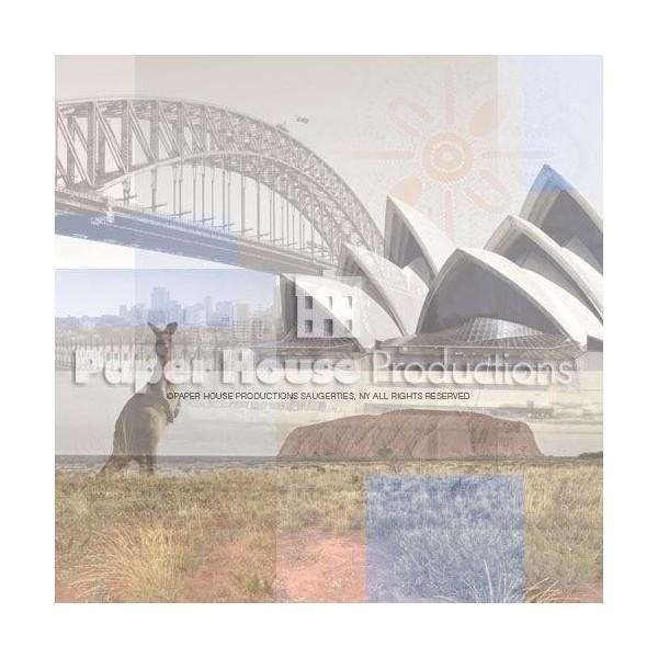 Scrapbook papier Australie Collage