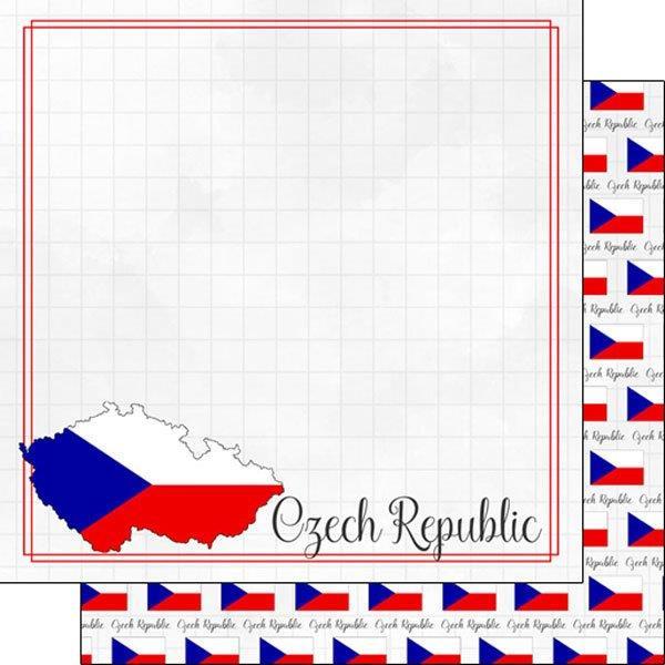 Czech Republic - Adventure Border - 12 x 12 Paper