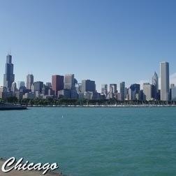 Chicago Skyline - papier 30.5 x 30.5 cm