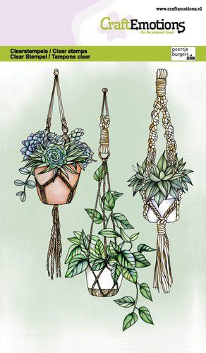 Stempelset Macramé Planthangers - A6-formaat