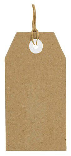Kraft Tags - Labels - 112 x 56 mm - 25 stuks