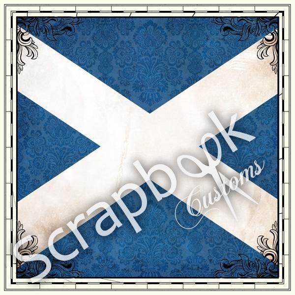Scotland Sightseeing Flag - papier 30.5 x 30.5 centimeter
