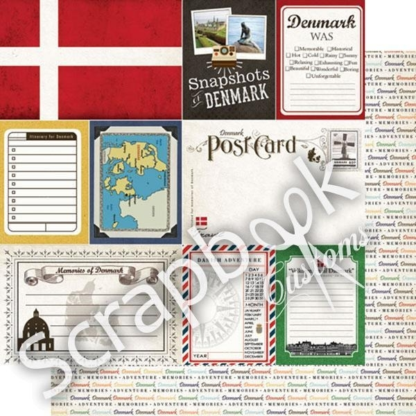 Denemarken / Journal - snapshots - scrapbookpapier