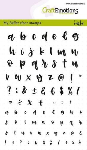 craftemotions clear stamps Handletter alfabet - middel - klein (dicht) (NL) -A6