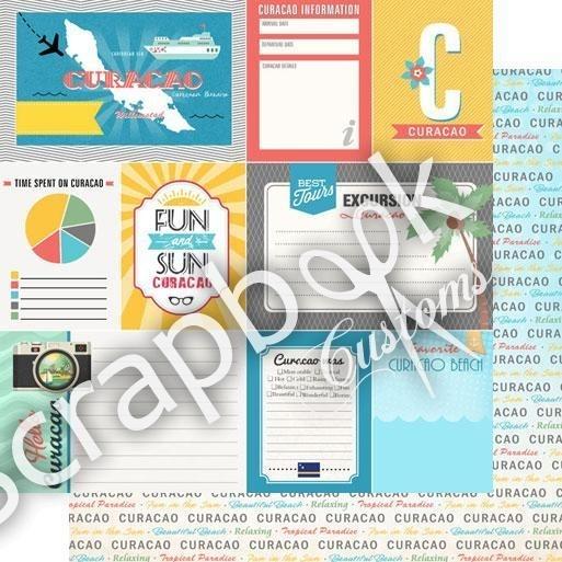 Curacao tropical journal - scrapbook papier - 12x12 inch