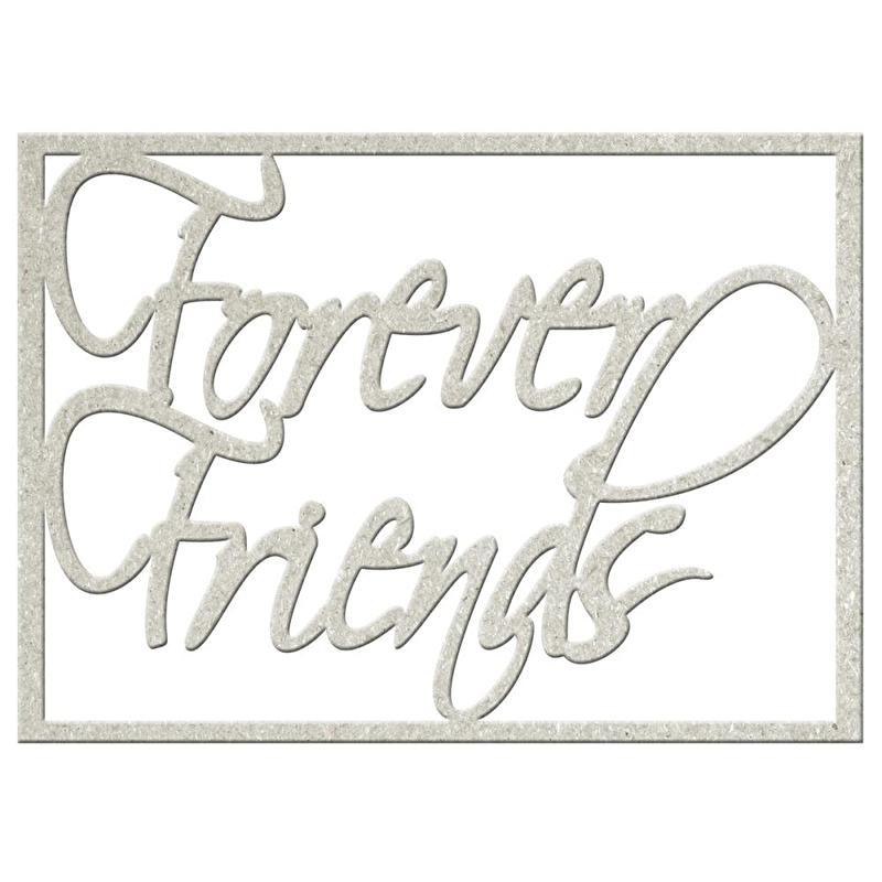 Forever Friends fabscraps gestanst karton decoratie