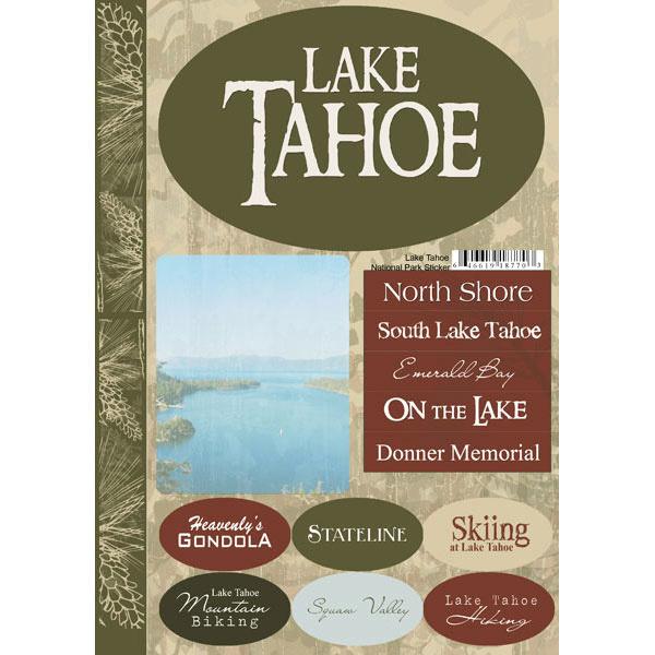 Lake Tahoe Cardstock stickers