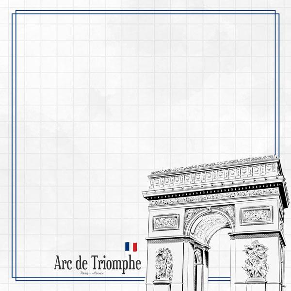Arc de Triomphe  Adventure  - dubbelzijdig scrapbook papier