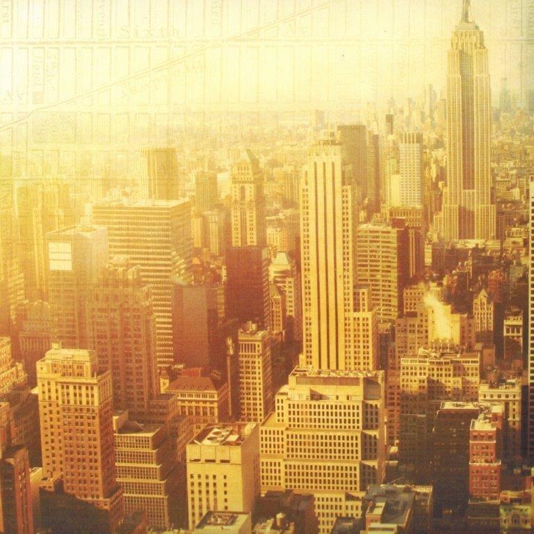 New York luchtfoto papier 30.5 x 30.5 cm