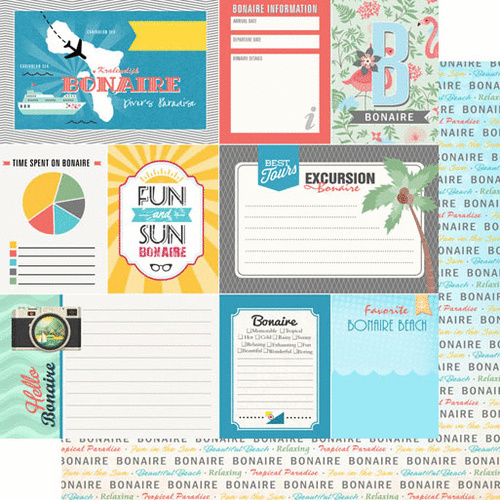 Bonaire tropical journal - scrapbook papier - 12x12 inch