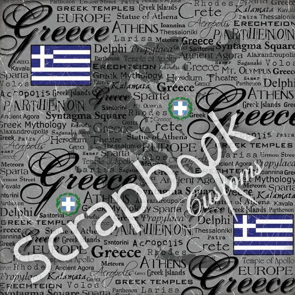 Greece - Scratchy - thema papier 30.5 x 30.5 cm