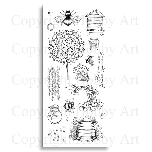 Bees Clear stamps