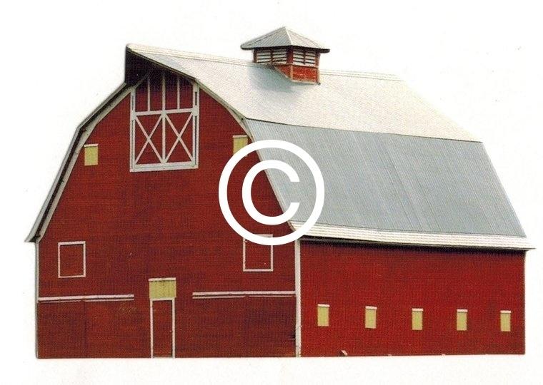 Amerikaanse Boerderij stans - stans decoratie - 9x5.5 cm