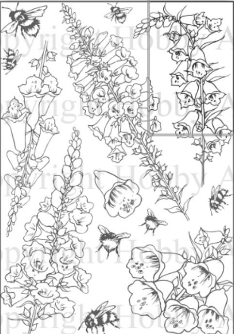 Foxgloves / Vingerhoedskruid clear stempels A5