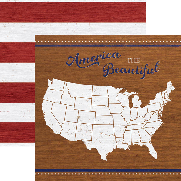 America the Beautiful - scrapbookpapier 30.5 x 30.5 cm