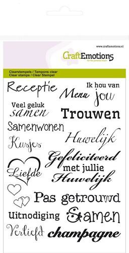 craftemotions clear stamp huwelijk  (NL) - A6