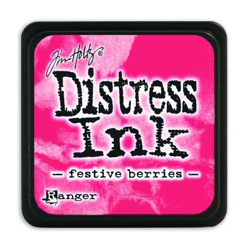 Mini  Distress inkt - Festive Berries - waterbased dye ink / inkt op waterbasis - 3x3 cm