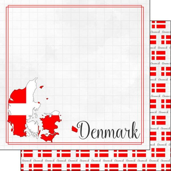 Denmark - Adventure Border - 12 x 12 Paper